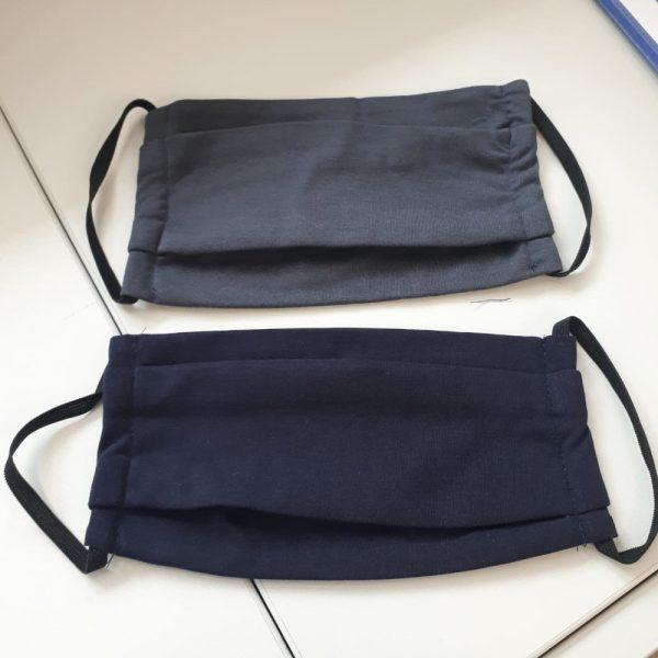Community-Maske in Blau / Grau