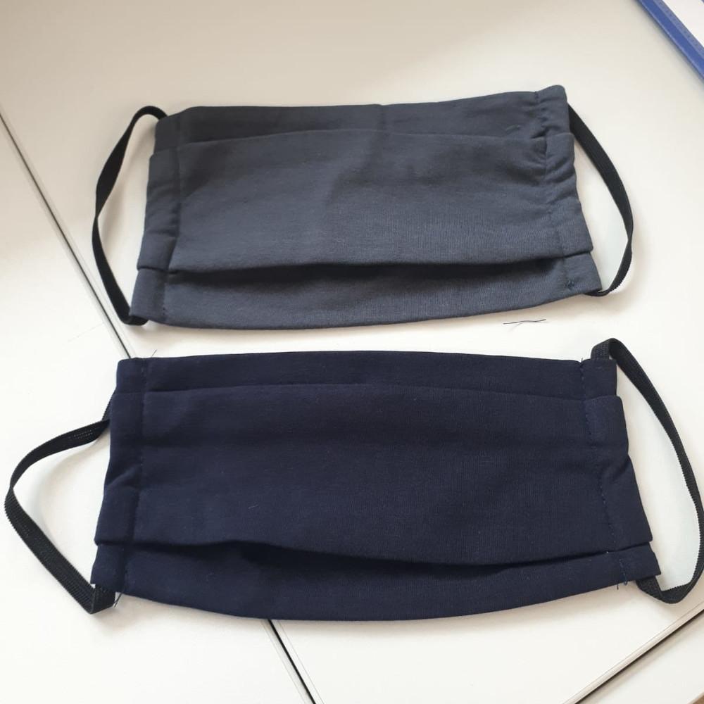 Community-Maske Blau / Grau